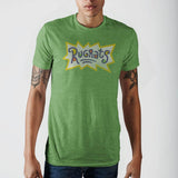 Rugrats Logo Kelly Heather Green T-Shirt || 90s Cartoon Geek Gift Tee for Men || - huronshop1