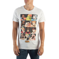Street Fighter Character Grid T-Shirt || Great 80s 90s Gamer Gift! || White Video Game Tee || - huronshop1