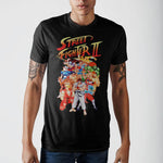 Black Street Fighter Character Group T-Shirt || Great Gift for the 80s 90s Gamer! || Men's Video Game Tee || - huronshop1