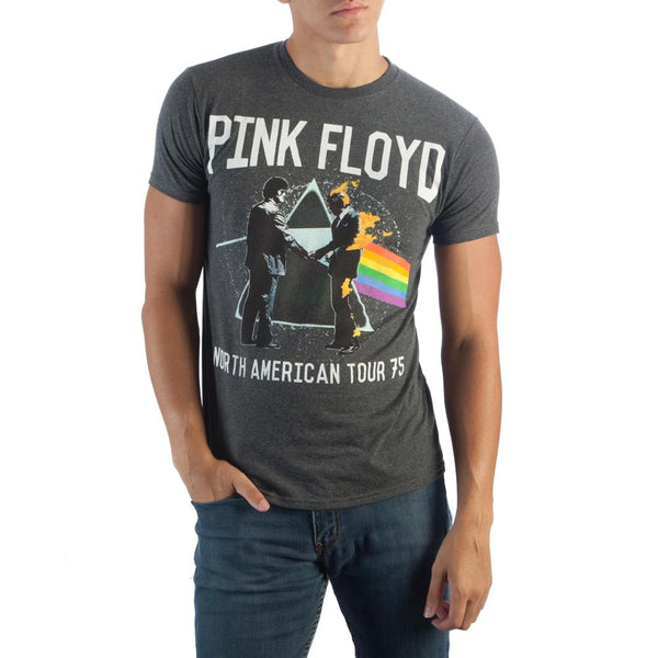 Pink Floyd B&T Charcoal T-Shirt || Retro 80s 90s Rock and Roll Tee || - huronshop1