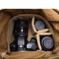 Vintage Look! Waterproof Canvas Camera Bag || Photography Backpack DSLR Nikon || Father's Day - huronshop1