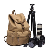 Waterproof Canvas Camera Bag || Photography Backpack DSLR Nikon || Father's Day - huronshop1