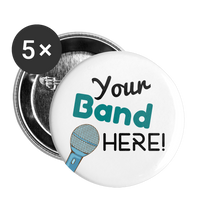 "Teal ""Your Band Here"" 1"" Pins 5pk 