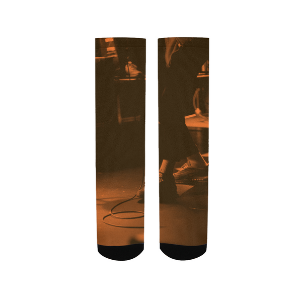 Feet Meet Stage - Musician / Hip-Hop Artist Mens T-shirt Men's Socks - huronshop1