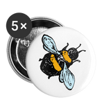 "Large Bee 1"" Button (5-pack) - huronshop1"