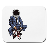 Tiny Bike Spaceman Business - Horizontal Mouse Pad || Funny Computer / Tech gift for Dad this Father's Day!! || - huronshop1