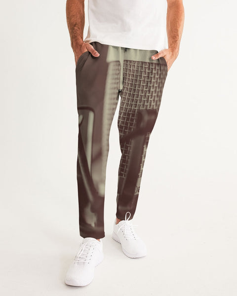 Faded Vocalist: Monochromatic Microphone Design   Men's Joggers - huronshop1