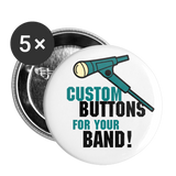 "Custom Buttons for Your Band! Turquoise || Get Merch that Pops for your bands next gig! ||  1"" Buttons (5ea) - huronshop1"