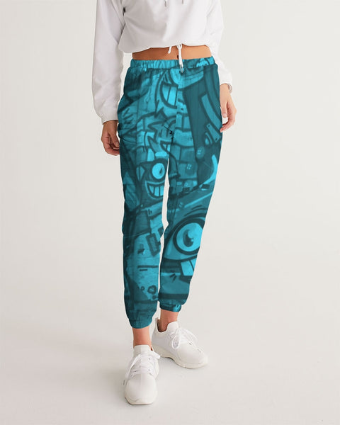 Freaky Fun Graffiti Blues Women's Track Pants - huronshop1