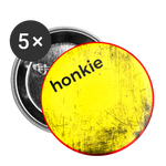 "Yellow Scratch ""honkie"" - Buttons large 2.2'' (5-pack) - huronshop1"