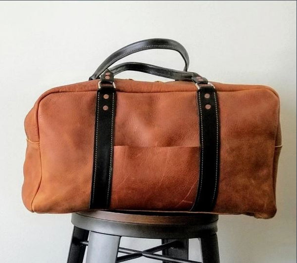 Raleigh Leather Weekender Bag - huronshop1