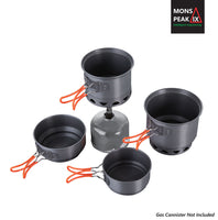 Mons Peak IX Trail 123 HE UL Cook Set with Stove - huronshop1