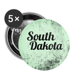South Dakota Green Scratch - Buttons large 2.2'' (5-pack) - white
