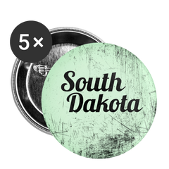 South Dakota Green Scratch - Buttons large 2.2'' (5-pack)