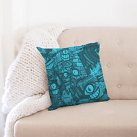 "Freaky Fun Graffiti Blues Throw Pillow Case 18""x18"" - huronshop1"