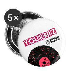 Custom Pink 5pk || We Design Promo Buttons for You and Your Business! Buttons large 2.2'' (5-pack)