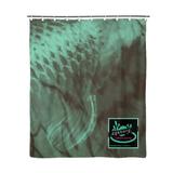 "Coy Green Backed Print Shower Curtain 72""x72"" - huronshop1"