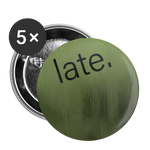"Green Fog ""late."" - Buttons small 1'' (5-pack) - huronshop1"
