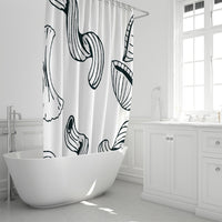 "Use Your Noodle Shower Curtain 72""x72"" 