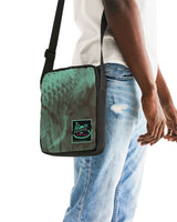 Coy Green Backed Print Messenger Pouch - huronshop1