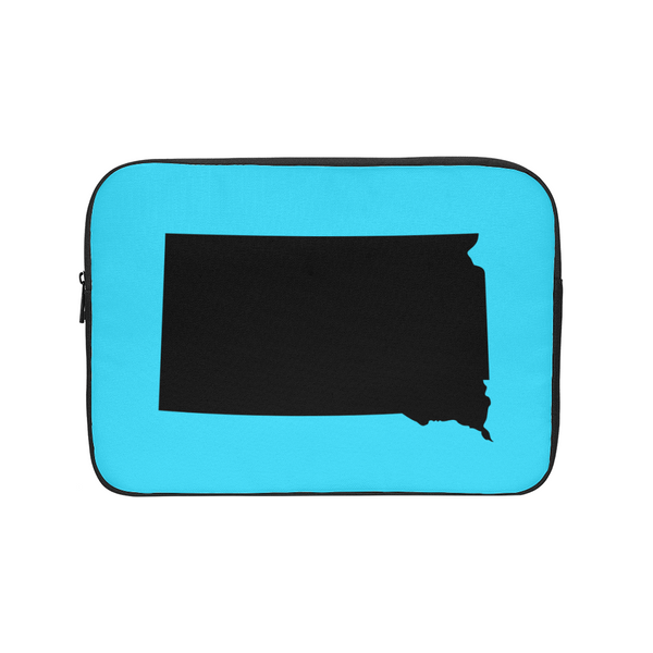 Bright Blue State of South Dakota Laptop Sleeve - huronshop1