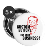 "Custom Buttons for Your Business!    Give the Daily Grind some Zip with Custom 1"" Buttons (5ea) - huronshop1"