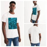 Freaky Fun Graffiti Blues Men's Graphic Tee - huronshop1