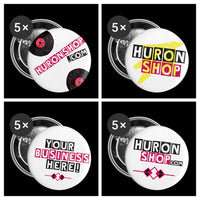 "Custom Buttons for Your Business! - Give the Daily Grind some Zip with Custom 2.2"" Buttons (5ea) - huronshop1"