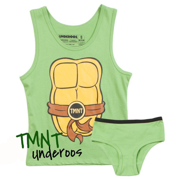Womens TMNT Turtles Underoos || Retro Womens Underwear Set 80s 90s Teenage Mutant Ninja Turtles - huronshop1