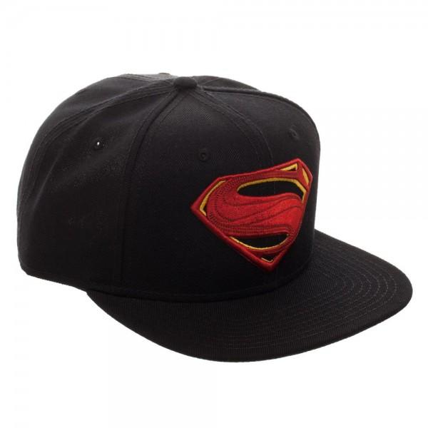 Superman Icon Embroidered Snap-back || Justice League Hat for Men or Women - huronshop1