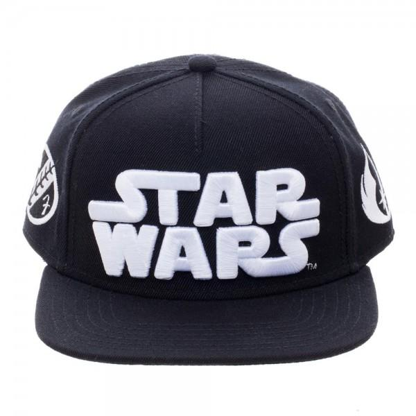 Star Wars Omni Logo Youth Snapback || Kids Black and White Star Wars Hat || - huronshop1