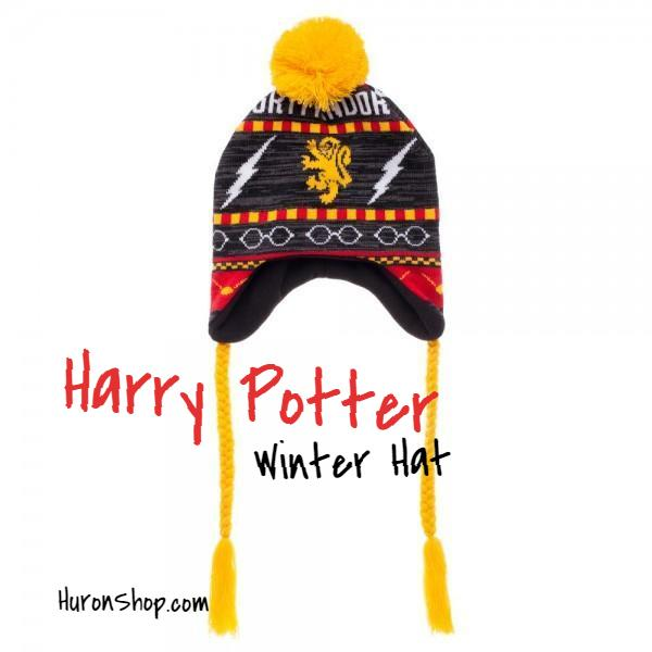 Harry Potter Gryffindor Hat - Fairisle Laplander || Mens or Womens Winter Hat - huronshop1
