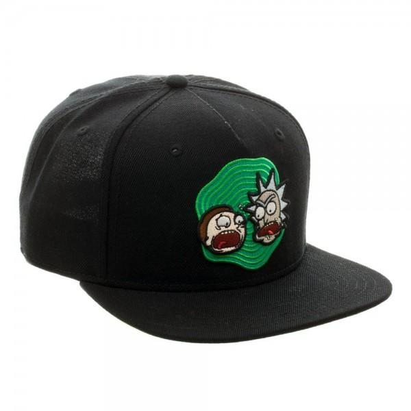 Rick and Morty Black Snapback || Mens Athletic Cartoon Character Hat || - huronshop1