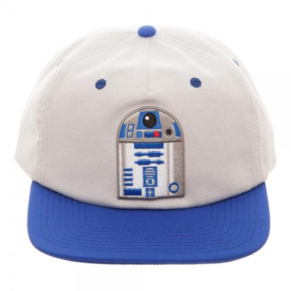 Star Wars R2D2 Oxford Snapback || Blue and White R2-D2 Hat || - huronshop1