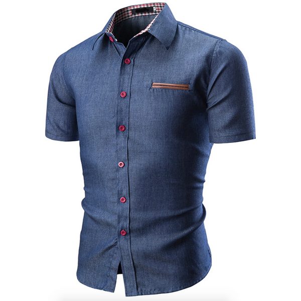 Mens Button Up Northwest Apparel || Classic Blues Button Up Semi Casual - huronshop1