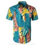 "Mens ""Floral Leaves"" Button Up Shirt - Leaves 