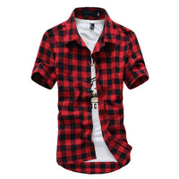 Mens Checkered Shirt by Northwest Apparel || Fashion Dress Shirt - huronshop1