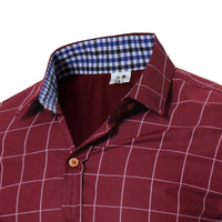 Mens Plaid Button Up by Northwest Apparel - huronshop1