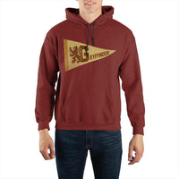 Harry Potter Gryffindor Pennant Pullover Hooded Sweatshirt - huronshop1