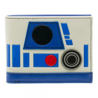 Star Wars R2D2 Helmet Bi-Fold Wallet || Awesome Blue and White Star Wars Droid Wallet || - huronshop1