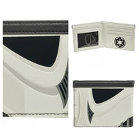 Star Wars Stormtrooper Bi-Fold Wallet || Mens Star Wars Black and White ID Fashion Wallet || - huronshop1