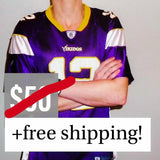 REDUCED! XL Womens Vikings Jersey - Percy Harvin - Great Condition - huronshop1