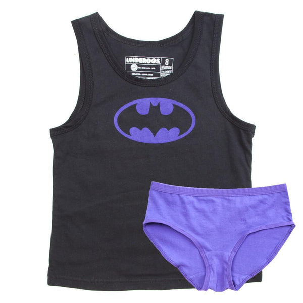 DC Comics Batgirl Underoos || Womens Batgirl Cotton Batman Night Set for Her - huronshop1