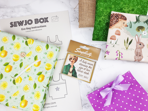 Sewjo Box monthly sewing subscription box