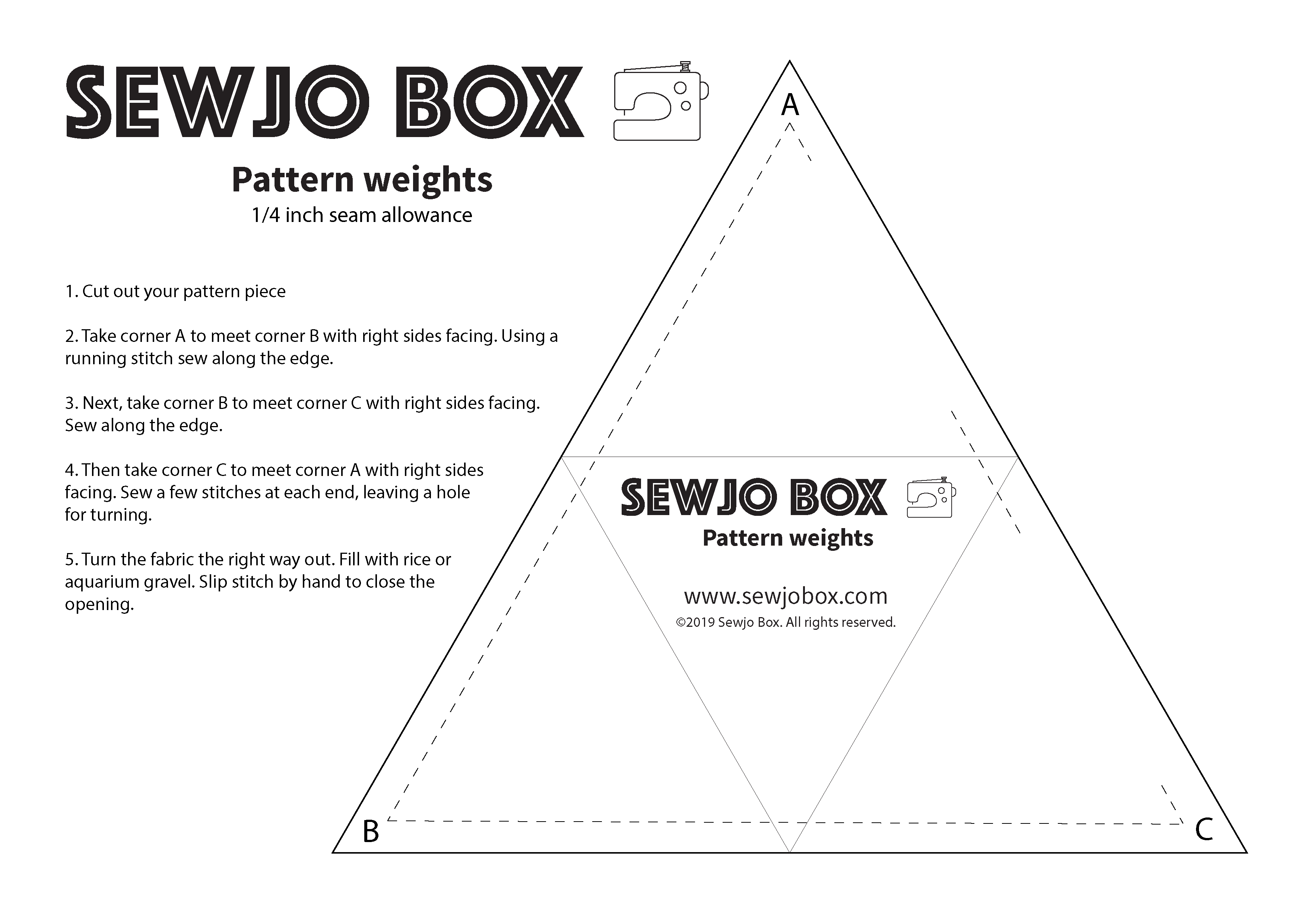 Free sewing pattern - Fabric weights