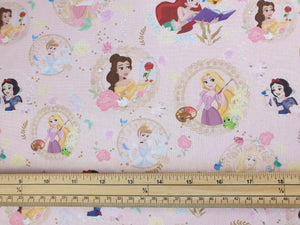 Disney party princess 100% cotton print per metre