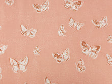 Load image into Gallery viewer, Peach flutterdust butterfly cotton jersey knit by AGF studio - Per metre