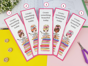 Create something beautiful today  - Bookmark