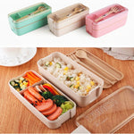 2 Layer Microwave Lunch Box + Spoon and Fork - For A Healthy Lifestyle - Smartkitchengoods