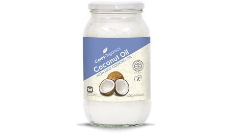Organic Coconut Oil, High Heat Cooking 600g